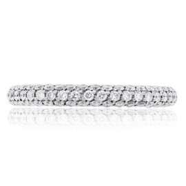 De Beers 18K White Gold 1.10ct Diamond Band Size 8