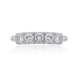14K White Gold 0.50ct Diamond Band Ring Size 5.5