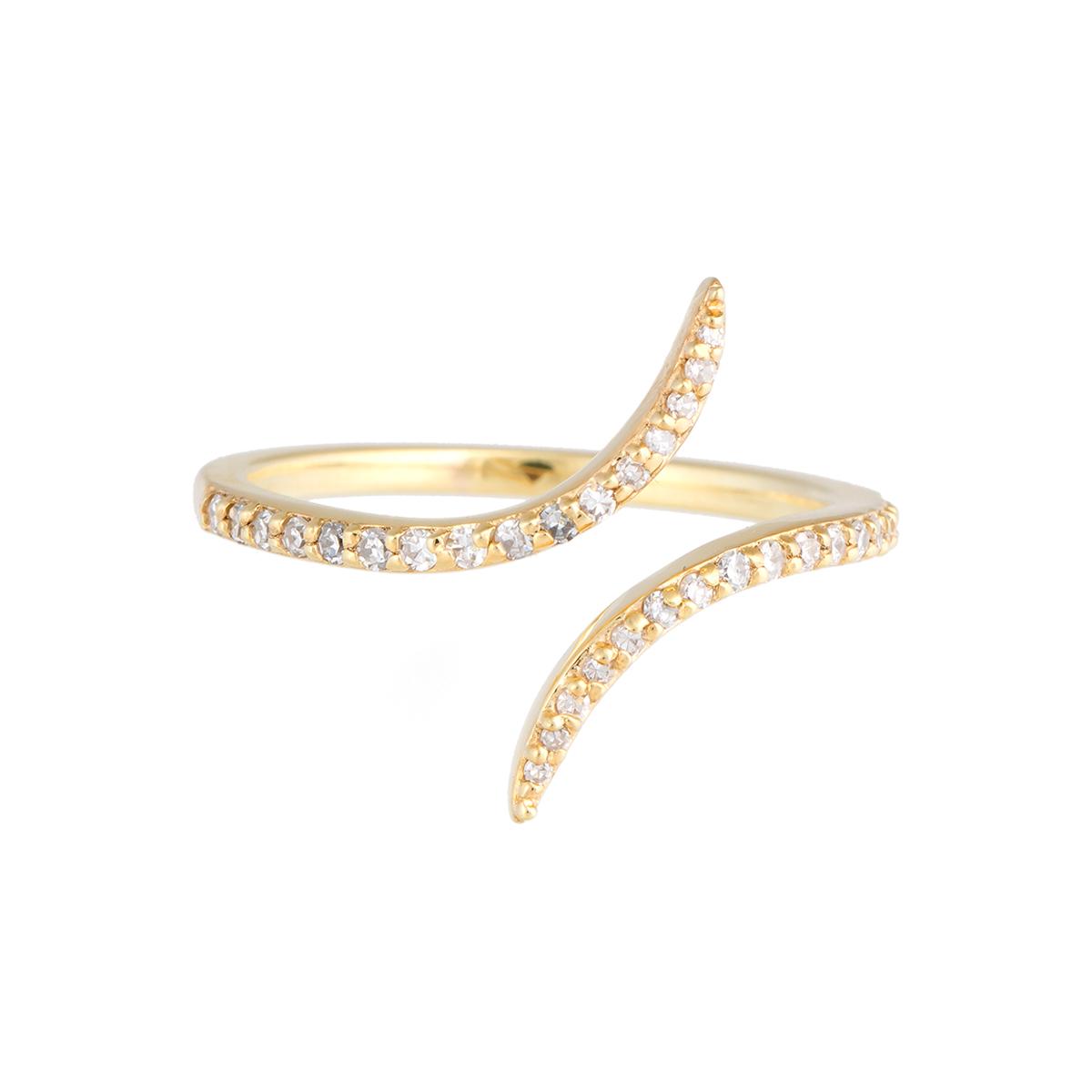 "Image of ""Jordan Scott Design Thin Dia Bypass Ring"""