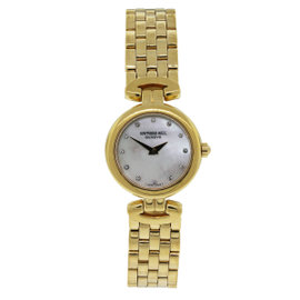 Raymond Weil 18K Gold Electro 5868 Mother of Pearl Diamond Dial Womens Watch