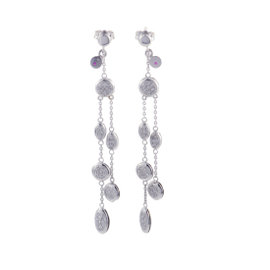Roberto Coin 18K White Gold Dangling Diamond Pave Earrings