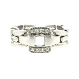 18k White Gold Salavetti Contemporary Diamond Ring