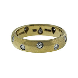 Tiffany & Co. 18K Yellow Gold and Diamond Band Ring