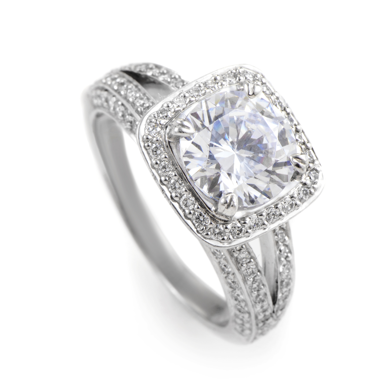 "Image of ""Ritani 18K White Gold Diamond Engagement Ring"""