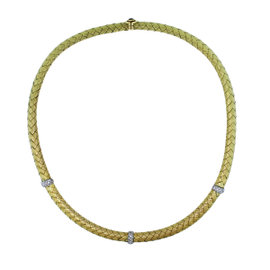 Roberto Coin Silk Woven .48ctw Diamond Necklace