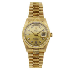 Rolex Day Date 18078 18K Yellow Gold 36mm Mens Watch