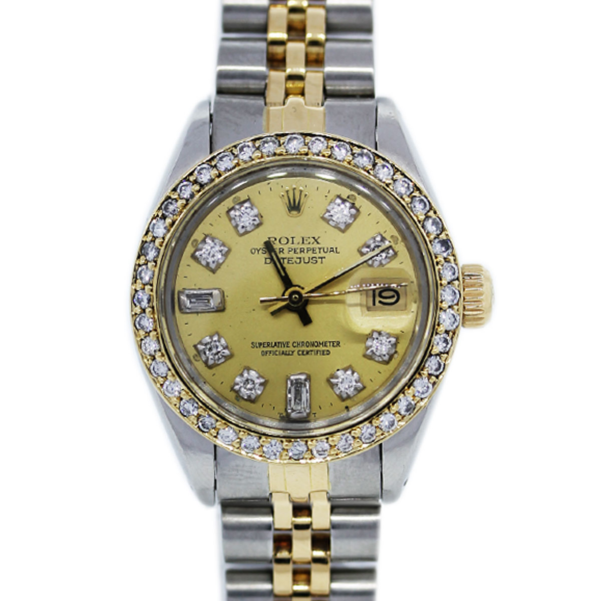 "Image of ""Rolex Datejust 6917 18K Yellow Gold Stainless Steel 26mm Womens Watch"""