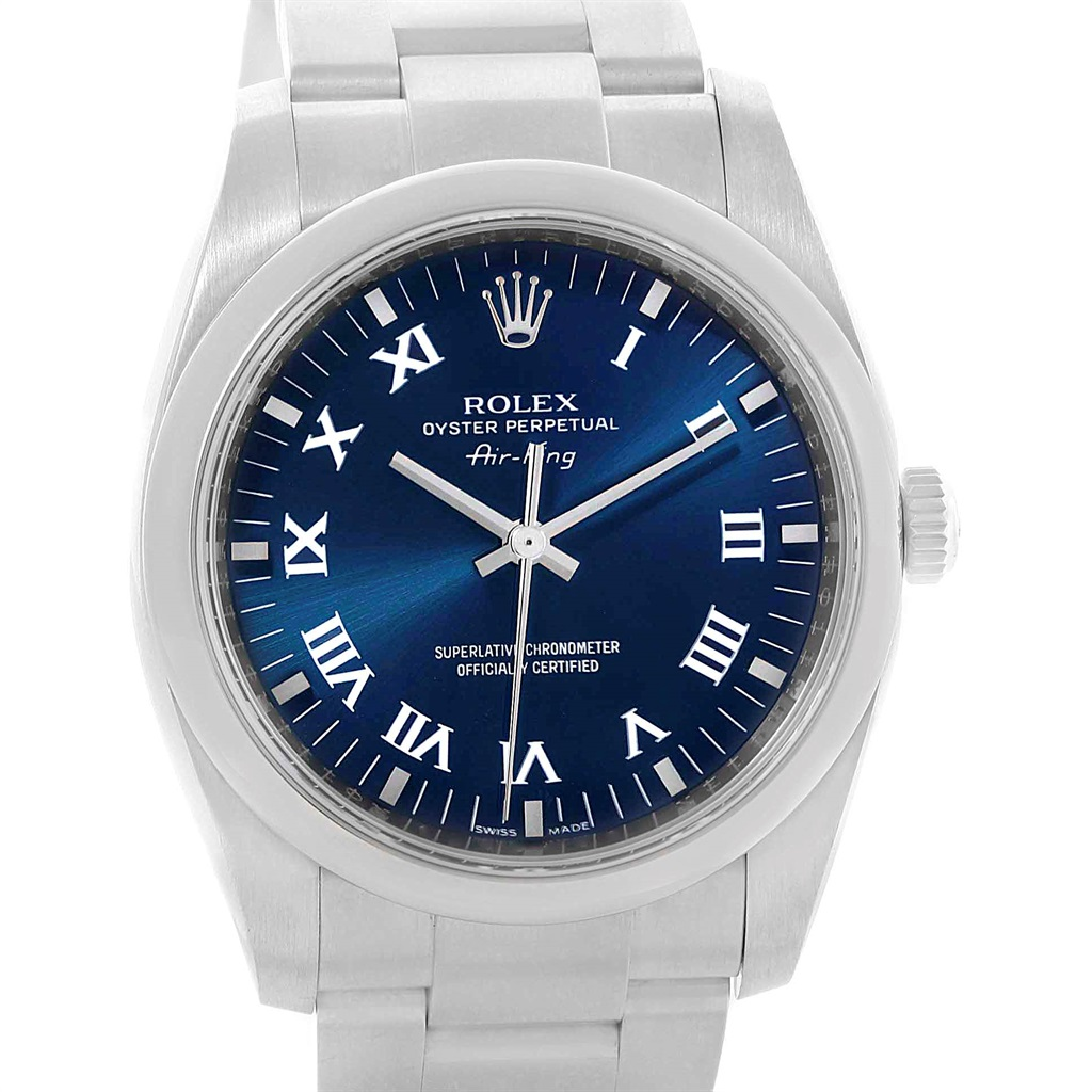 "Image of ""Rolex Air King 114200 Stainless Steel 34mm Mens Watch"""