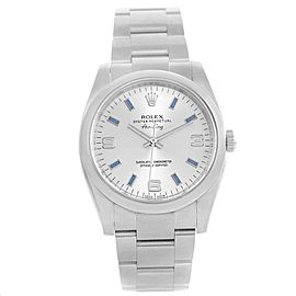 Rolex Air King 114200 Stainless Steel Silver Dial Automatic 34mm Unisex Watch