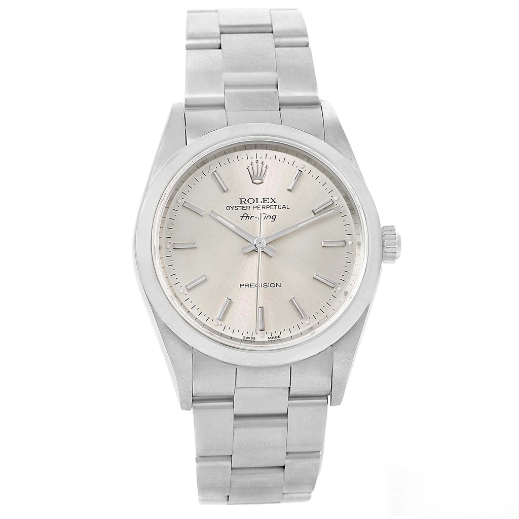 """Image of """"Rolex Air King 14000 Stainless Steel & Silver Dial 34mm Mens Watch"""""""