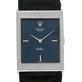 Rolex Cellini 4127 18K White Gold Vintage Manual 24mm Mens Watch