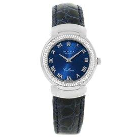 Rolex Cellini Cellissima 6671 18K White Gold & Diamond 26mm Womens Watch