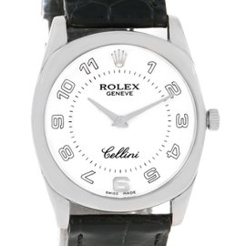 Rolex Cellini Danaos 4233 18K White Gold 34mm Unisex Watch