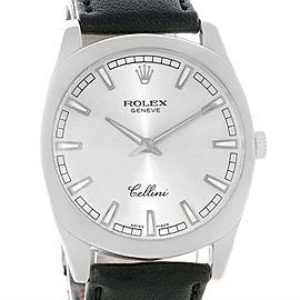 Rolex Cellini Danaos 4243 18K White Gold Silver Dial 38mm Mens Watch