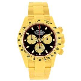 Rolex Daytona 18K Yellow Gold Black Dial 40mm Mens Watch