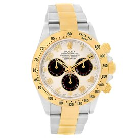 Rolex Cosmograph Daytona 116523 Stainless Steel & 18K Yellow Gold Panda Dial Automatic 40mm Mens Watch