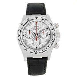 Rolex Cosmograph Daytona 116519 18K White Gold & Meteorite Dial 40mm Mens Watch