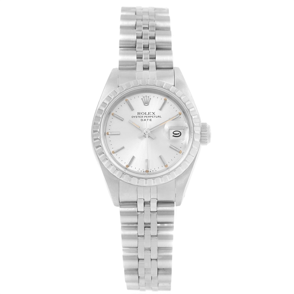 """Image of """"Rolex Date 69240 Stainless Steel Automatic 26mm Womens Watch"""""""
