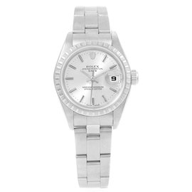 Rolex Date 79240 Stainless Steel & Silver Dial 26mm Womens Watch