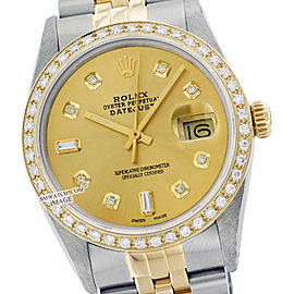 Rolex Datejust 16013 36mm Stainless Steel Yellow Gold Diamond Watch