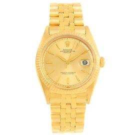 Rolex Datejust 1601 18K Yellow Gold Vintage 34mm Mens Watch
