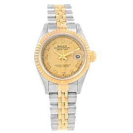 Rolex Datejust 69173 Stainless Steel & 18K Yellow Gold Roman Dial Automatic 26mm Womens Watch