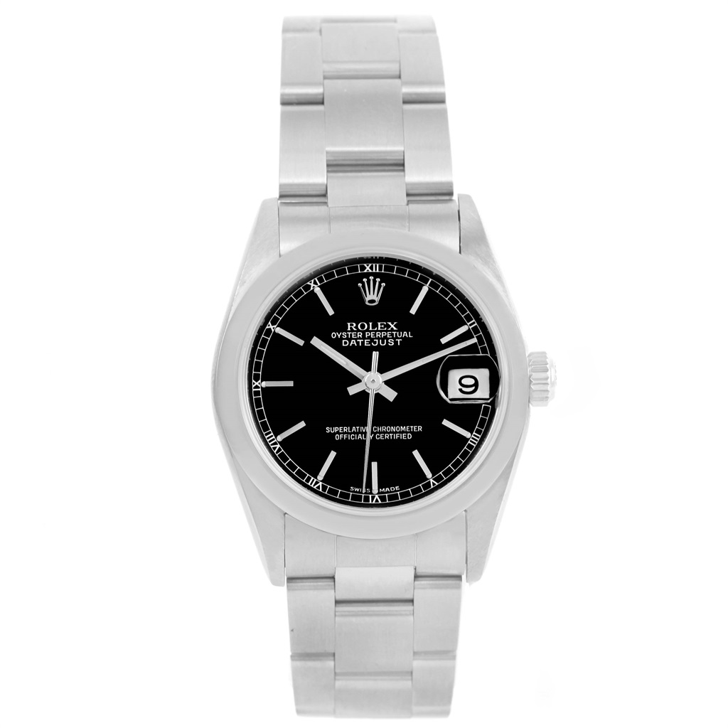 """Image of """"Rolex Datejust 78240 Stainless Steel Black Baton Dial Automatic 31mm"""""""