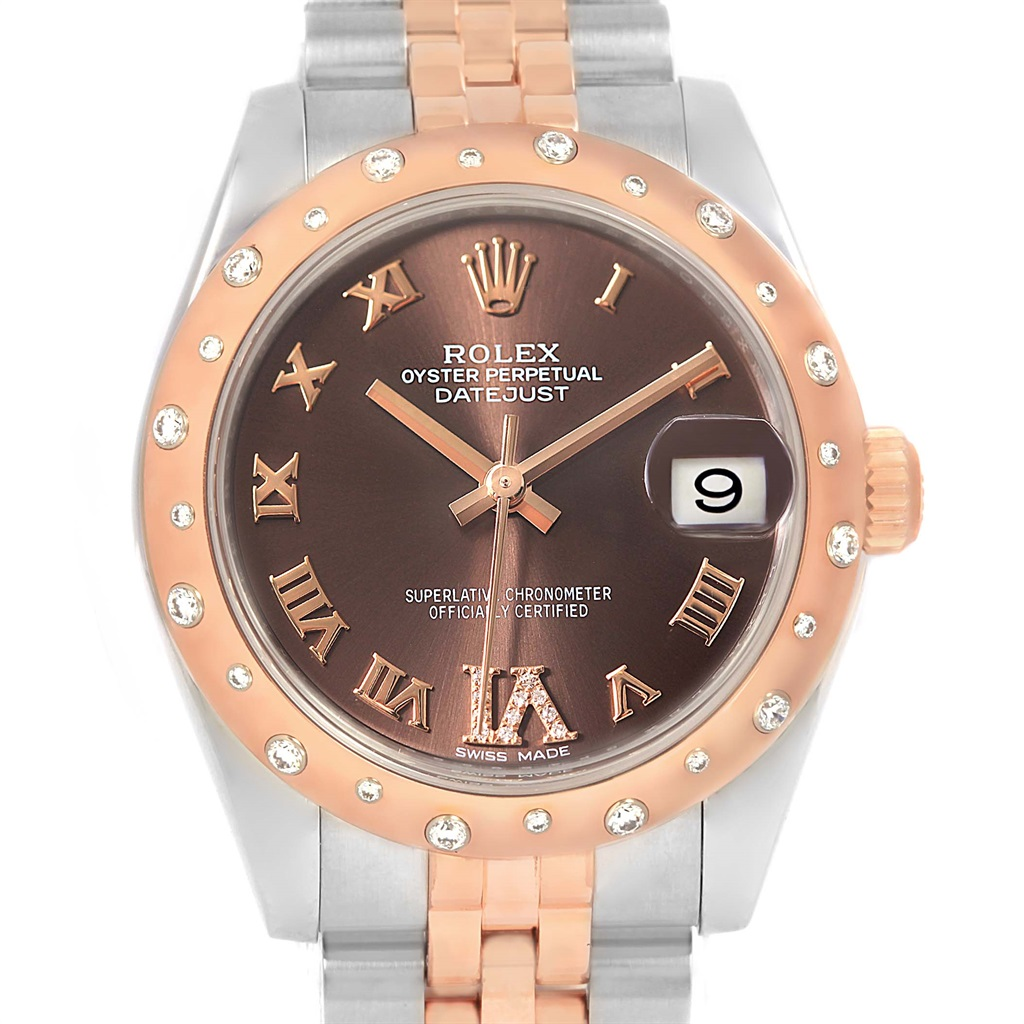 """Image of """"Rolex Datejust 178341 Stainless Steel & 18K Rose Gold wDiamond"""""""