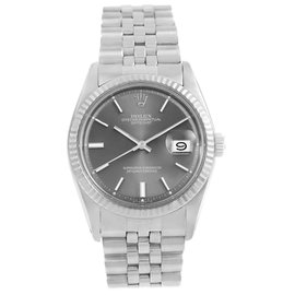Rolex Datejust 1601 Stainless Steel & Grey Sigma Dial Vintage 34mm Mens Watch