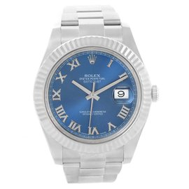 Rolex Datejust 116334 Stainless Steel & 18K White Gold Automatic 41mm Mens Watch