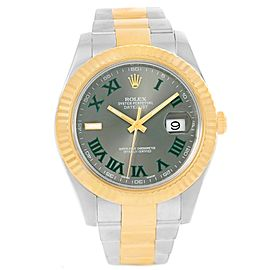 Rolex Datejust II 116333 Stainless Steel & 18K Yellow Gold Grey Dial Automatic 41mm Mens Watch