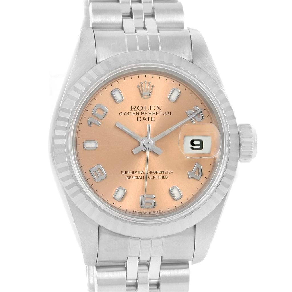 """Image of """"Rolex Datejust 69174 Stailess Steel and White Gold Vintage 26mm Womens"""""""