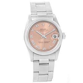 Rolex Datejust 78240 Stainless Steel & Salmon Roman Dial 31mm Womens Watch