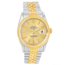 Rolex Datejust 16233 Stainless Steel & 18K Yellow Gold Automatic 36mm Unisex Watch