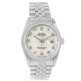 Rolex Datejust 16234 Stainless Steel & Ivory Anniversary Arabic Dial 36mm Mens Watch