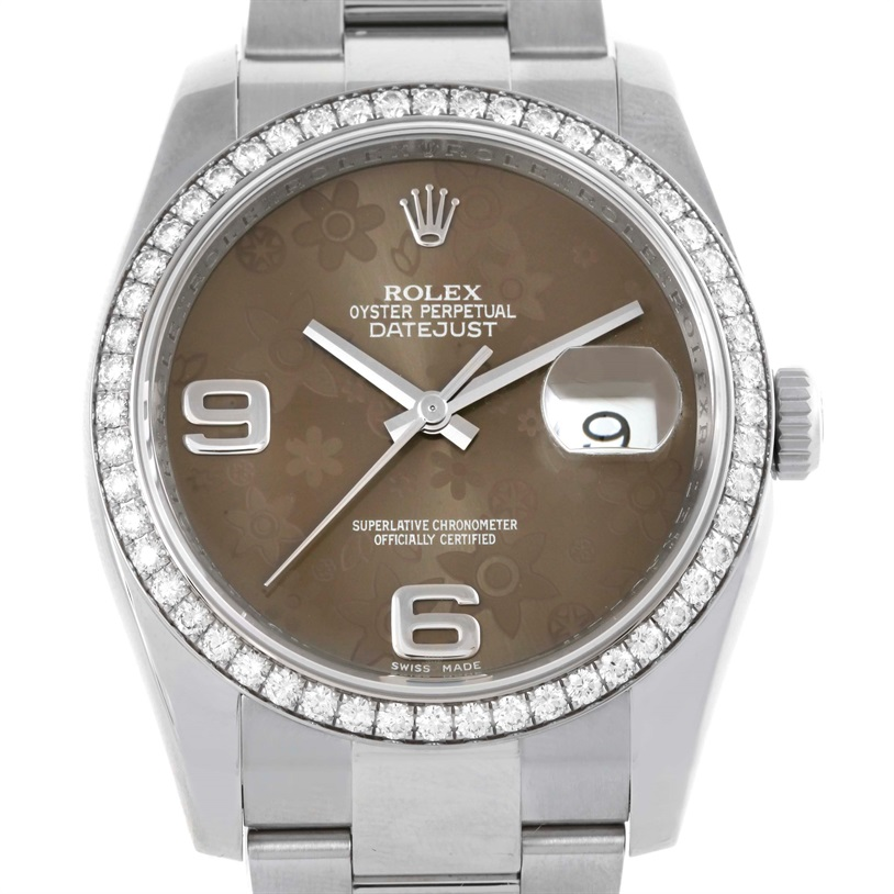 """Image of """"Rolex Datejust 116244 Stainless Steel Automatic 36mm Mens Watch"""""""