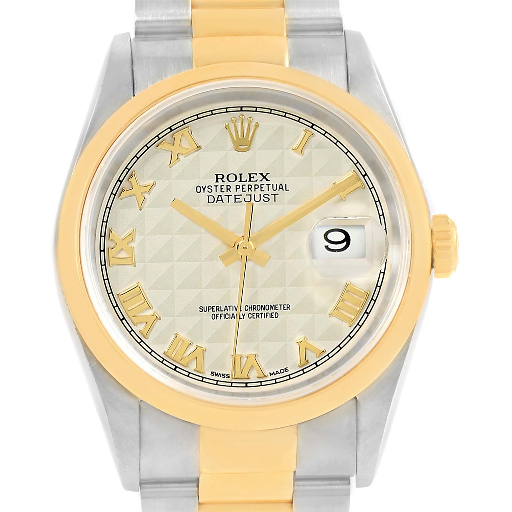 "Image of ""Rolex Datejust 16203 Stainless Steel and 18K Yellow Gold 36mm Womens"""