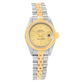 Rolex Datejust 69173 Stainless Steel & 18K Yellow Gold 26mm Womens Watch