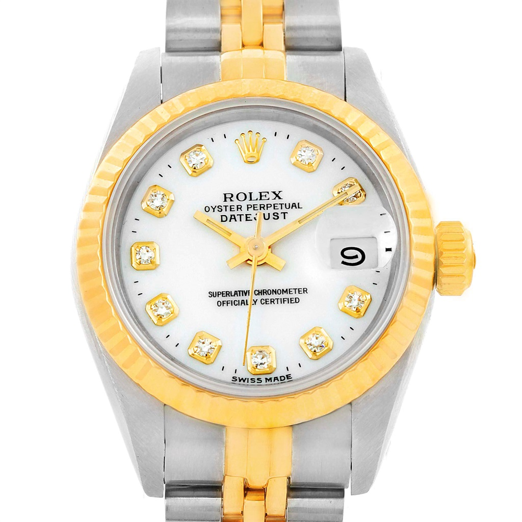"""Image of """"Rolex Datejust 69173 Stainless Steel and 18K Yellow Gold with White"""""""