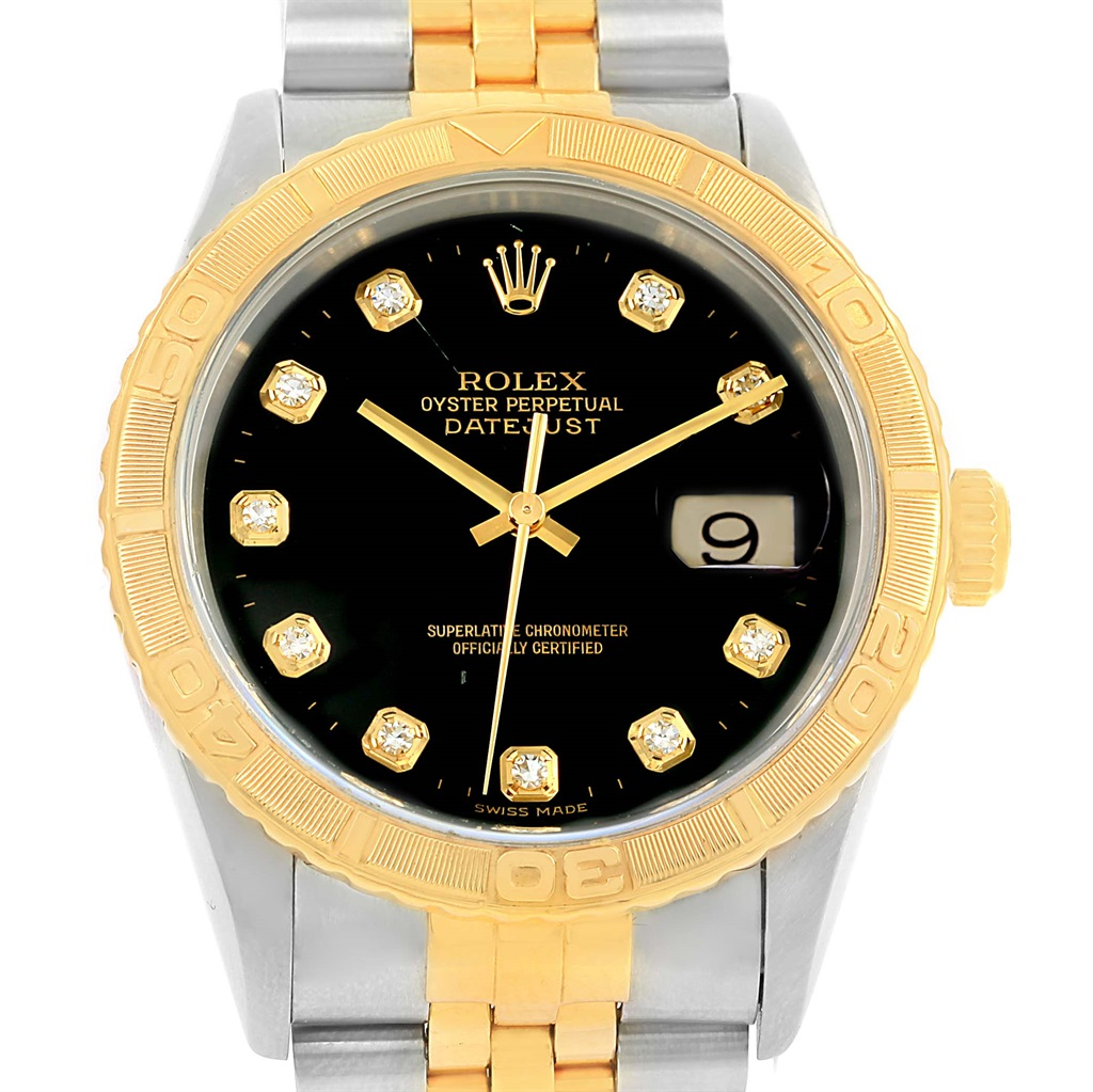 """Image of """"Rolex Datejust 16263 18K Yellow Gold and Stainless Steel 36mm Mens"""""""