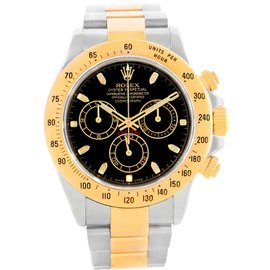 Rolex Daytona 116523 Stainless Steel & 18K Yellow Gold Black Dial Automatic 40mm Mens Watch