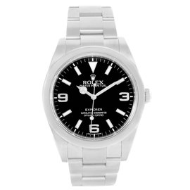 Rolex Explorer I 214270 Stainless Steel Black Dial 39mm Mens Watch