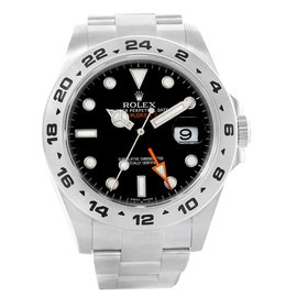 Rolex Explorer II 216570 Stainless Steel & Black Dial 42mm Mens Watch