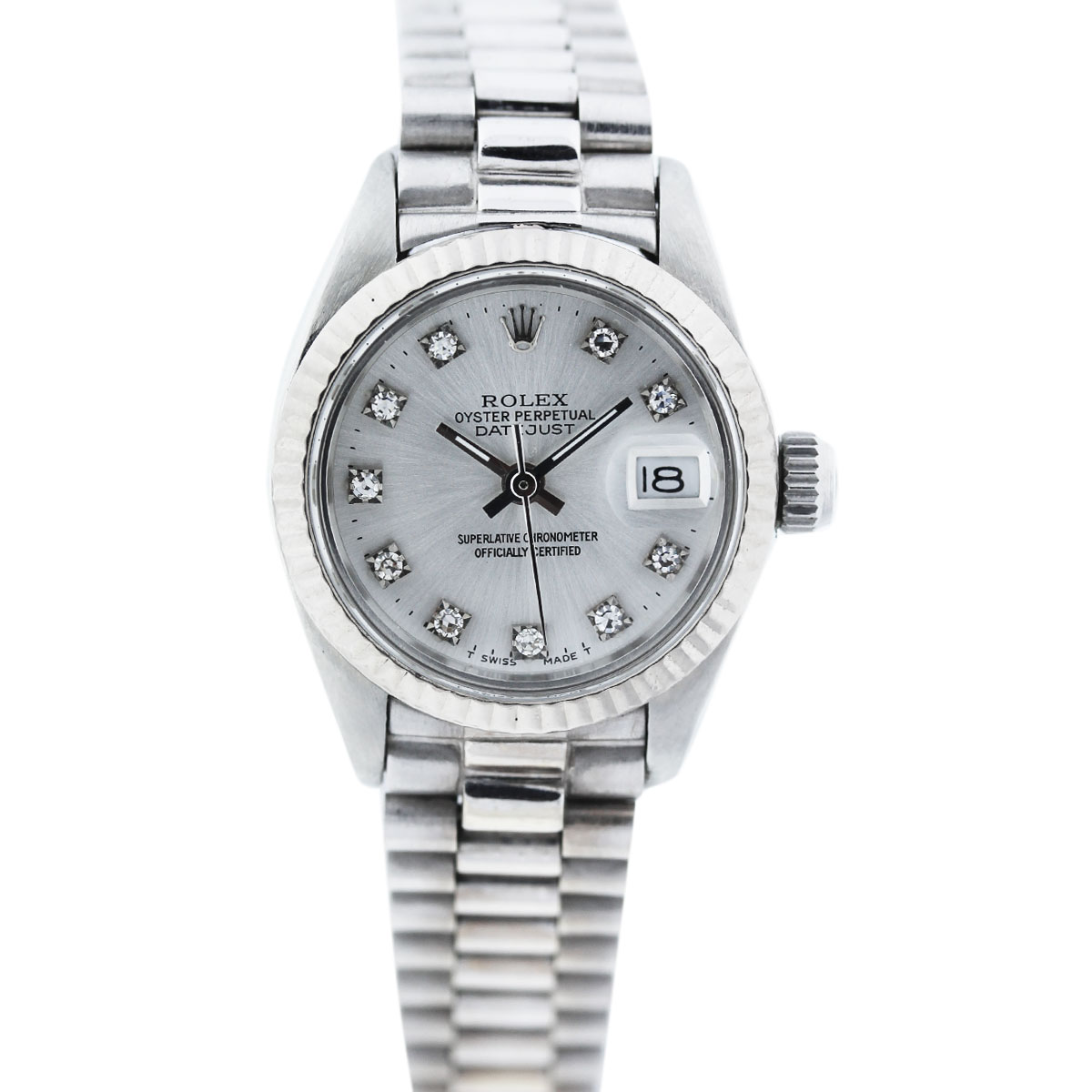 "Image of ""Rolex Datejust 6917 Stainless Steel Vintage 25mm Womens Watch"""