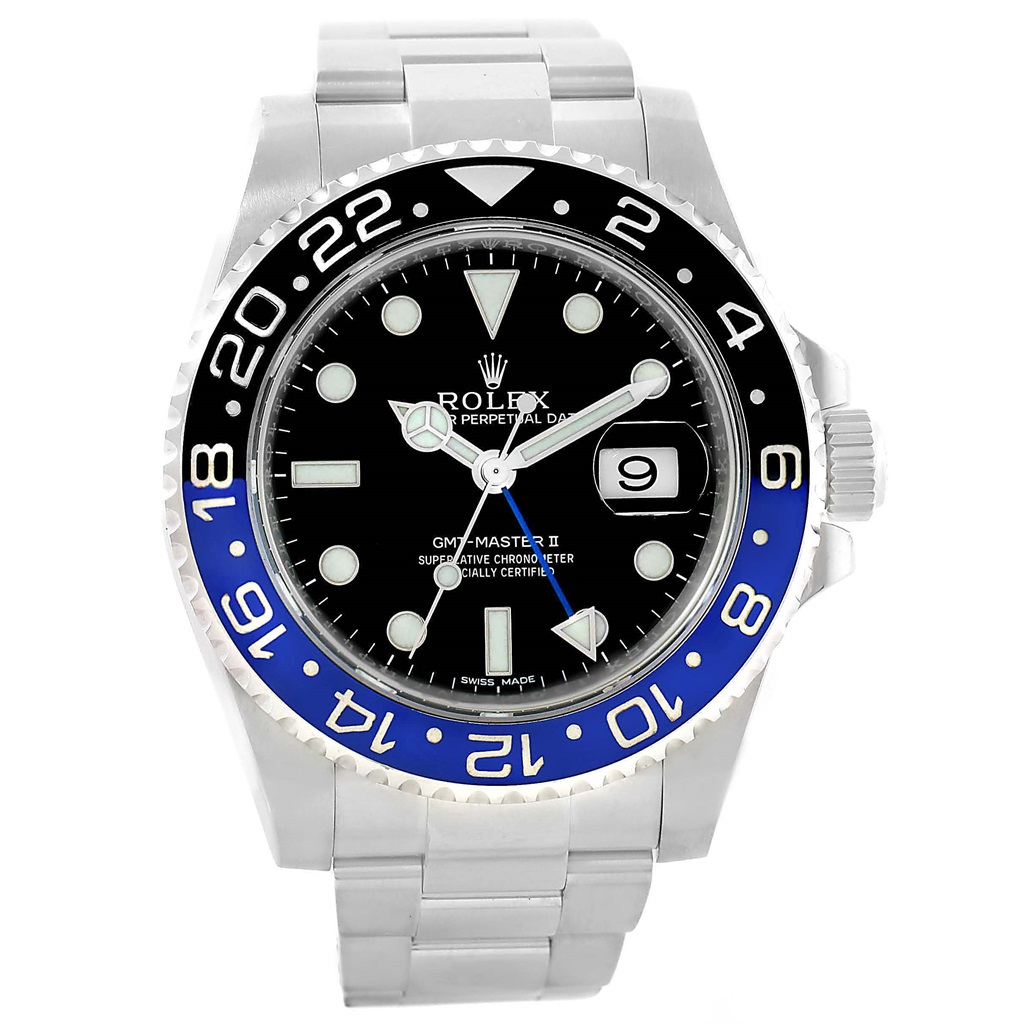 "Image of ""Rolex GMT Master II 116710 Stainless Steel Automatic 40mm Mens Watch"""