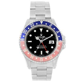 Rolex GMT Master II 16710 GMT Pepsi Bezel Stainless Steel Automatic 40mm Mens Watch