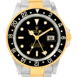 Rolex GMT Master II 16713 18K Yellow Gold / Stainless Steel 40mm Mens Watch