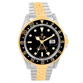 Rolex GMT Master II 16713 Stainless Steel & 18K Yellow Gold Automatic 40mm Mens Watch