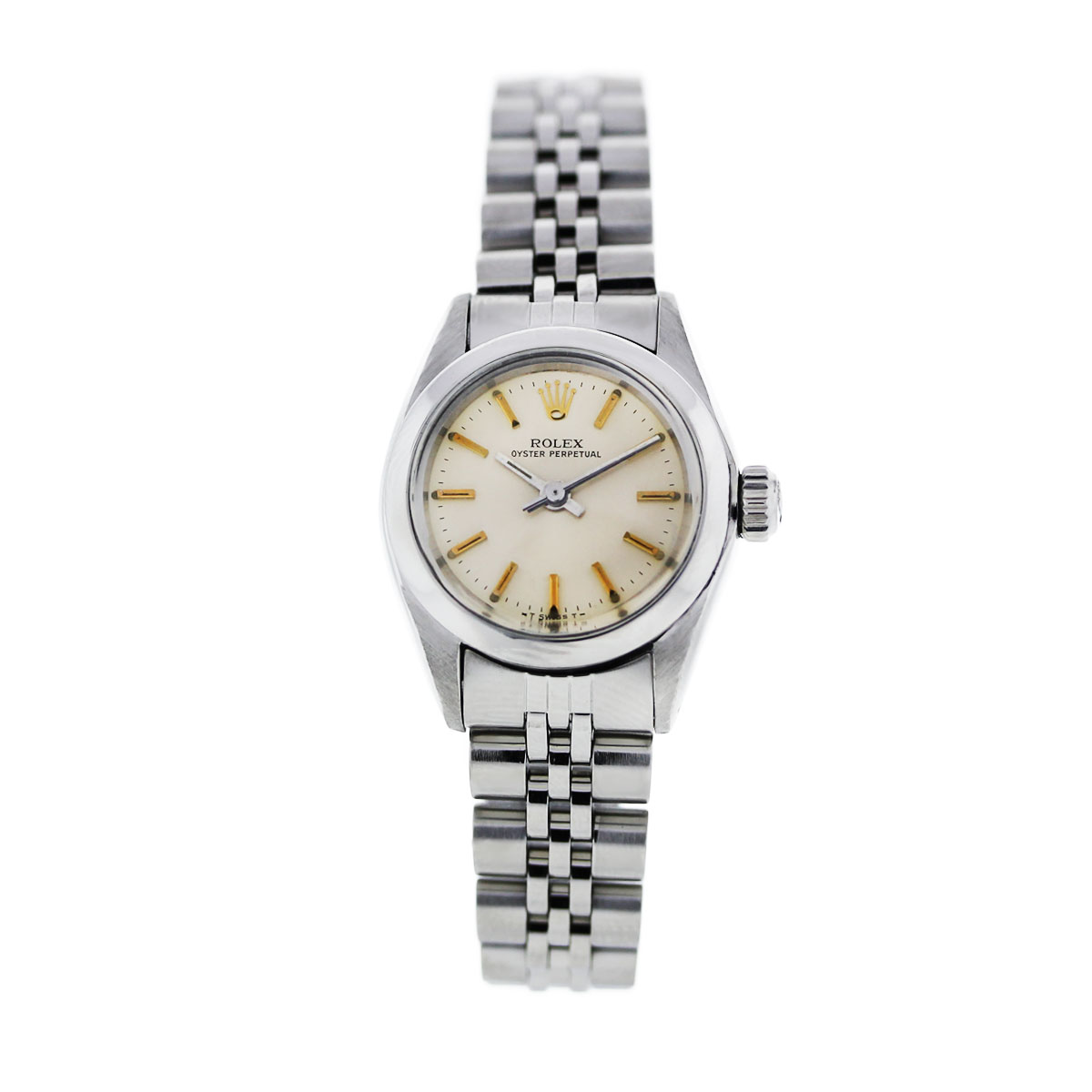 "Image of ""Rolex Oyster Perpetual Stainless Steel Jubilee Champagne Dial 26mm"""