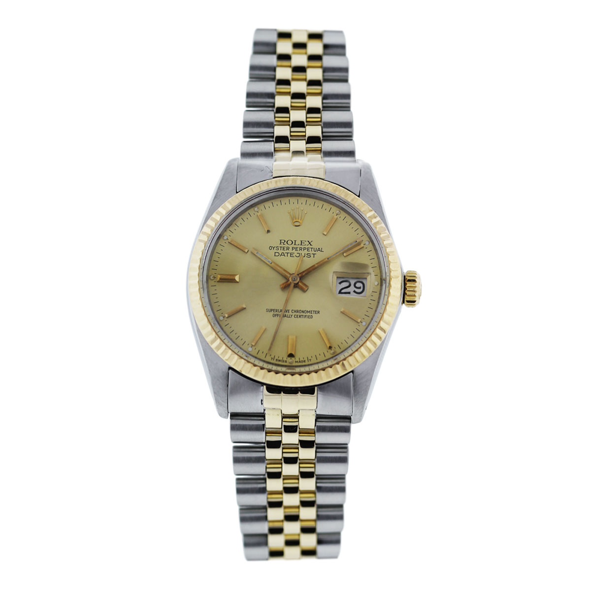 "Image of ""Rolex Datejust 16030 Stainless Steel / 18K Yellow Gold 36mm Mens Watch"""